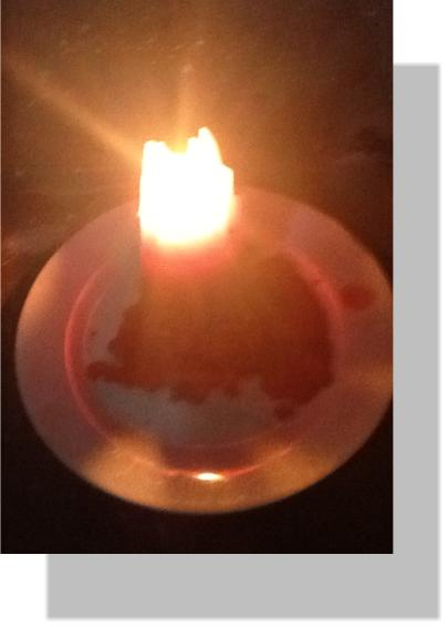 A candle light burning