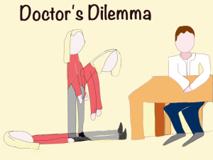 a cartoon of a doctor sitting at a desk