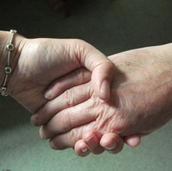 a photo of two hands holding