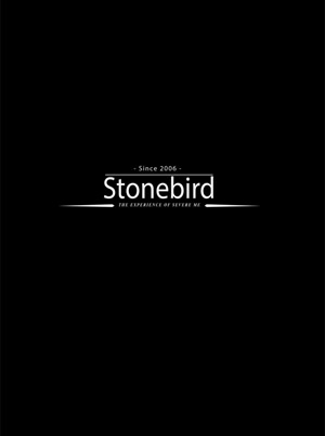 a sign saying Stonebird